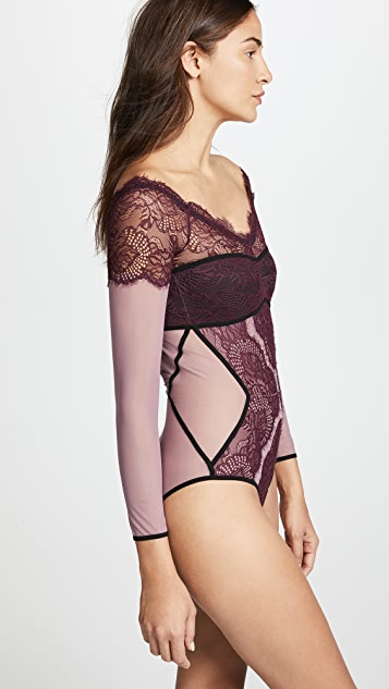 Thistle & Spire Morgan Off Shoulder Bikini Bodysuit