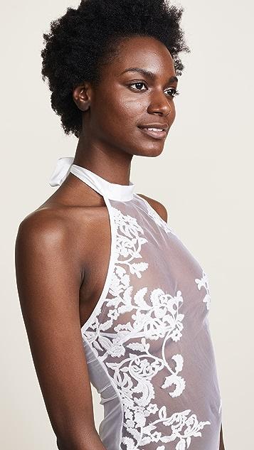 Thistle & Spire Cornelia Embroidered Thong Bodysuit