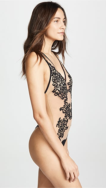 Thistle & Spire Cypress Embroidered Thong Bodysuit