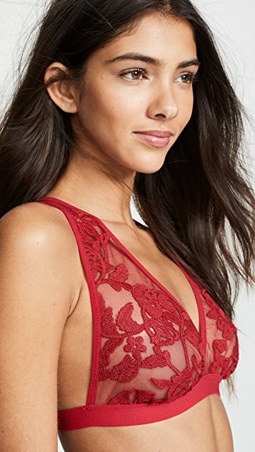 Thistle & Spire Valentines Day Cornelia Embroidered Bralette