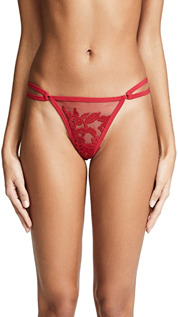Thistle & Spire Valentines Day Cornelia Embroidered Thong