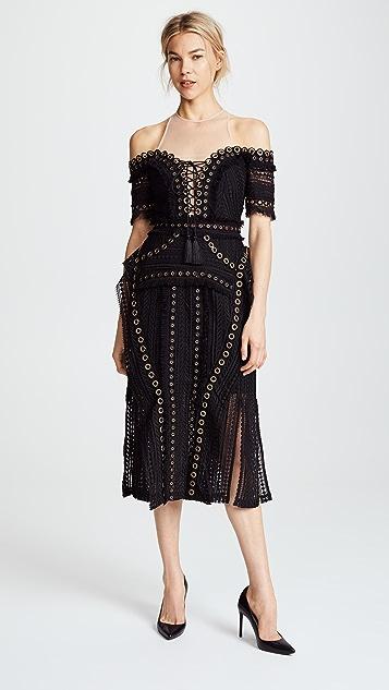 THURLEY Black Magic Dress
