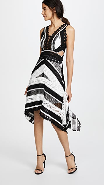 THURLEY Tango Dress - Black/Ivory