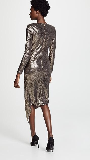 THURLEY Stardust Asymmetric dress