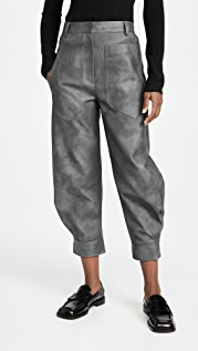 Tibi Rubberized Tie Dye Sculpted Pants