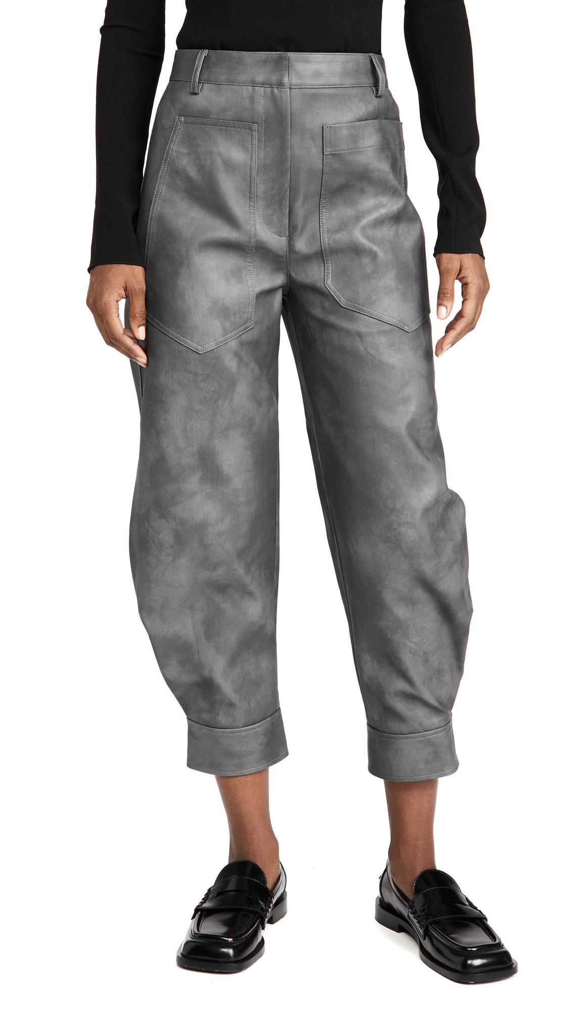 Tibi Rubberized Tie Dye Sculpted Pants