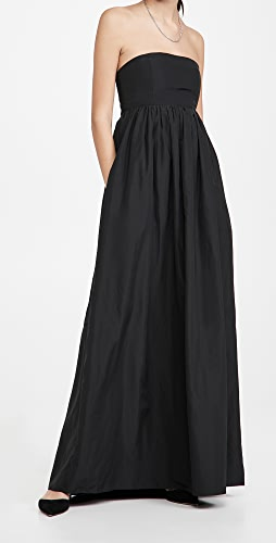 Tibi - Italian Sporty Nylon Strapless Cocoon Dress