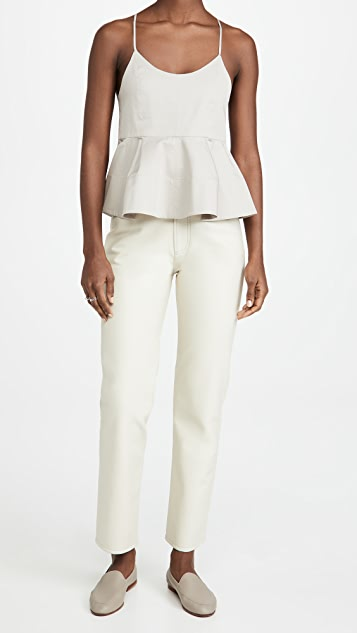 Tibi Sculpted Peplum Cami Top