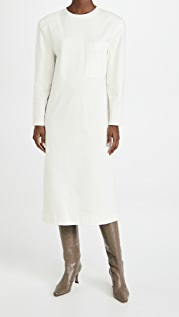 Tibi Long Sleeve Shoulder Pad Dress