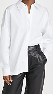 Tibi Classic Shirting Oversized Shirt