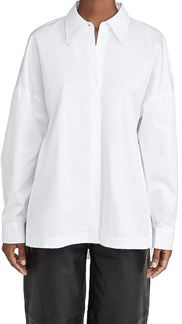 Tibi 经典衬衣面料宽大衬衫