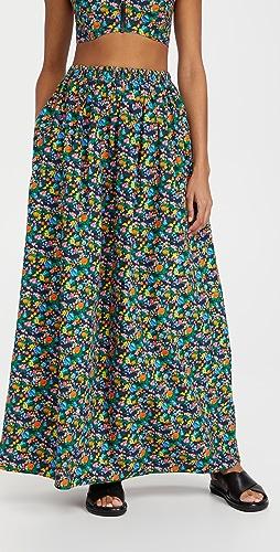 Tibi - Sabine Floral Pull On Cocoon Skirt