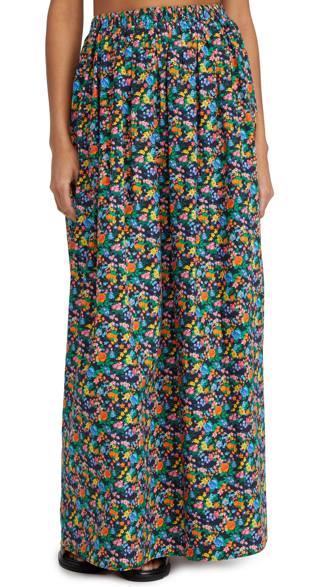 Tibi Sabine Floral Pull On Cocoon Skirt