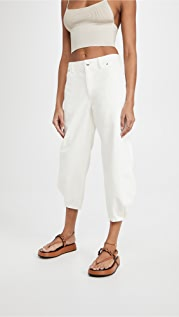 Tibi White Denim Sculpted Pants