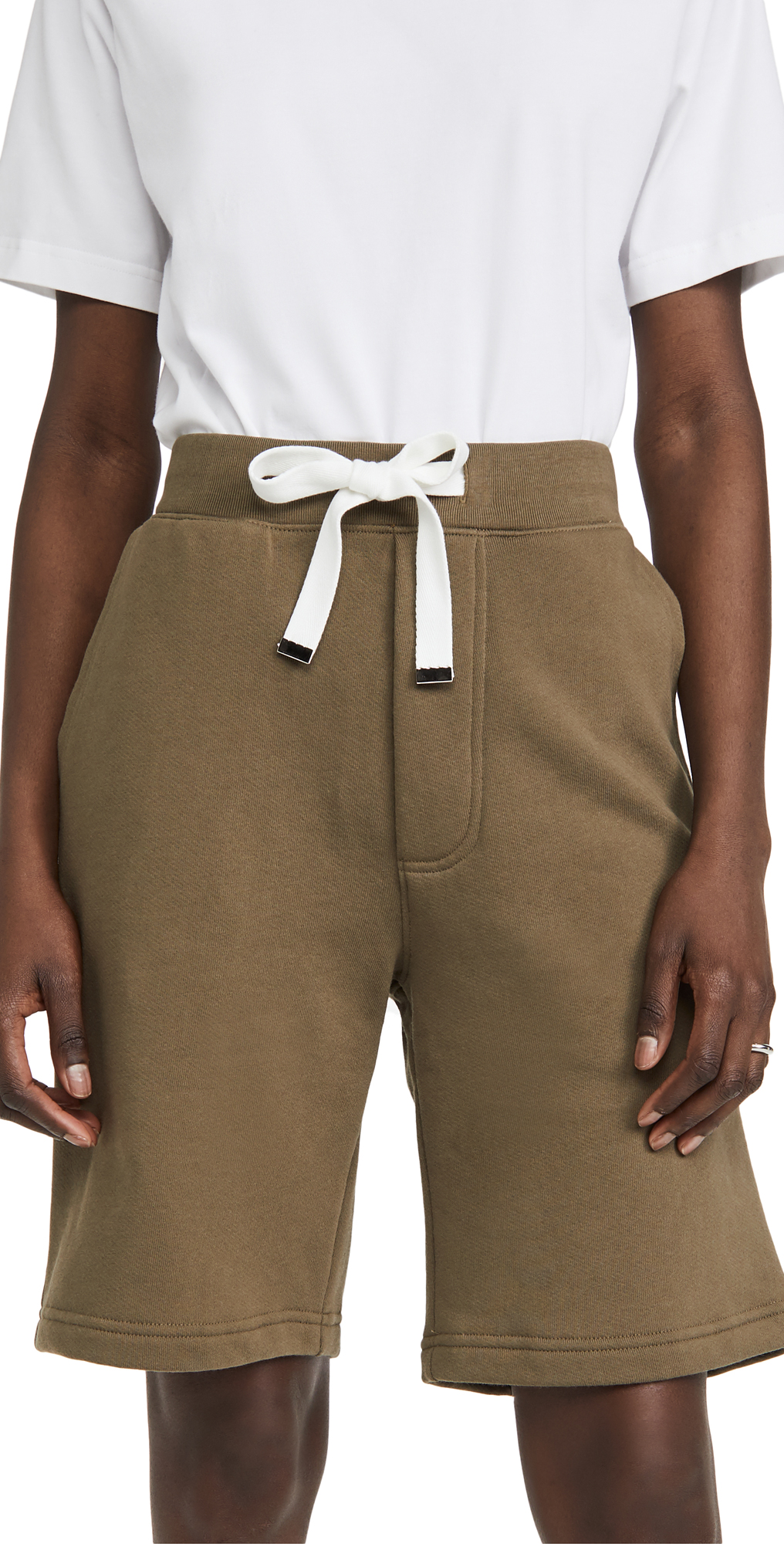 Tibi Cottons SWEATSHIRT SHORTS