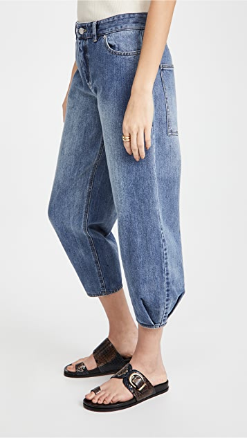 Tibi Classic Denim Sculpted Pants