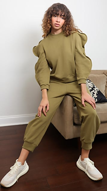 Tibi 扇贝饰边运动衫