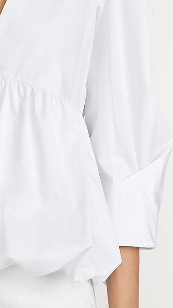 Tibi 立体抽褶袖上衣