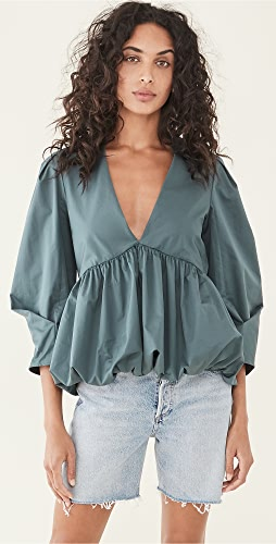 Tibi - Sculpted Tucked Sleeve Top