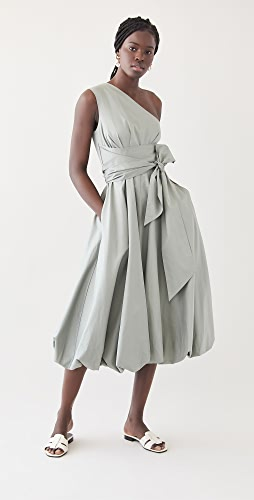 Tibi - Eco Poplin One Shoulder Dress