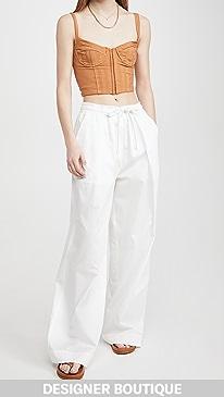 티비 Tibi The Leisure Suit Pants,White