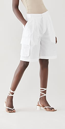 Tibi - Vintage Cotton Pull On Cargo Shorts