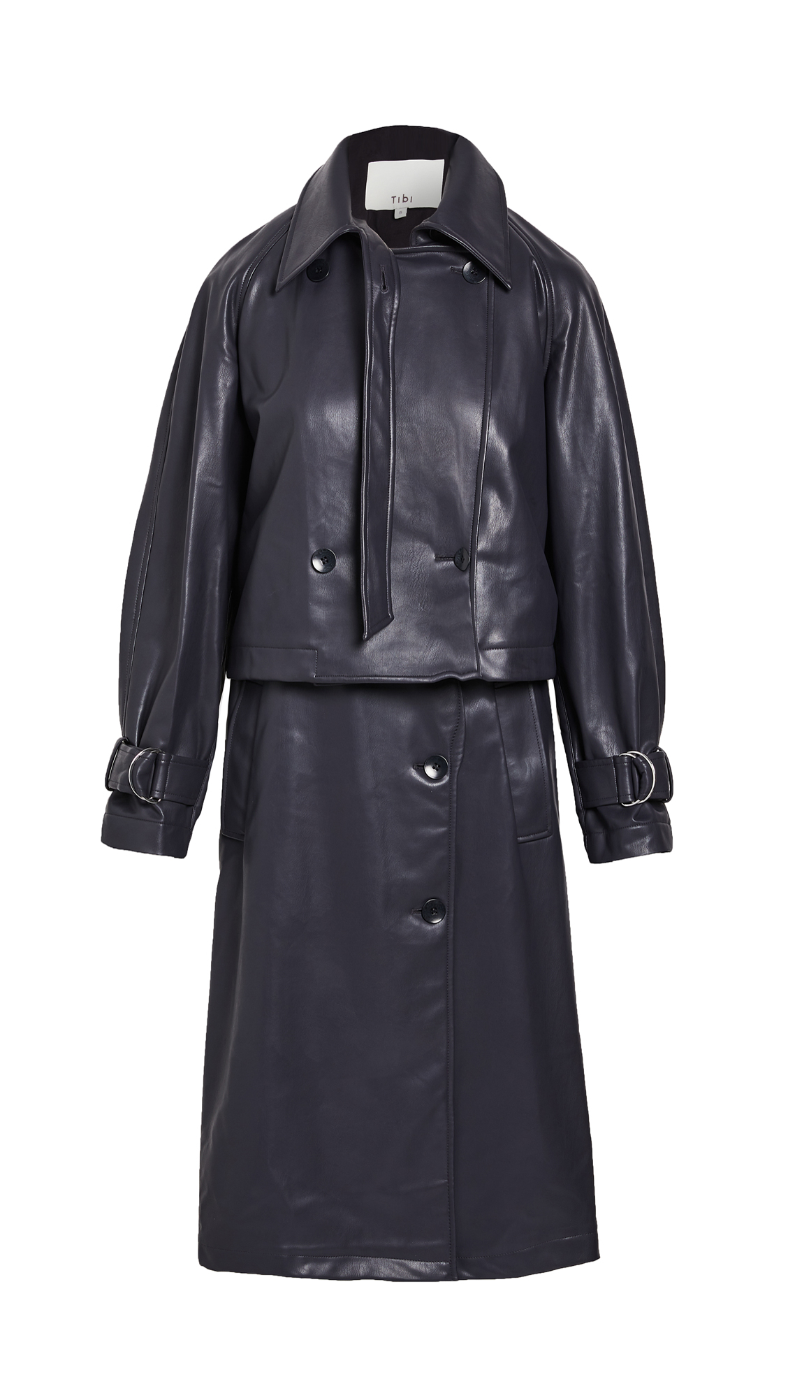 Tibi Convertible Trench Coat with Removable Belt