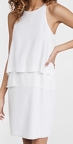 Tibi - Solid Silk Layered Dress