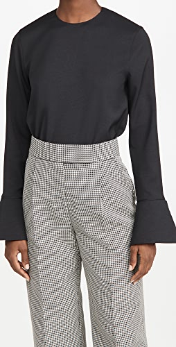 Tibi - Long Sleeve Top with Cuff Detail