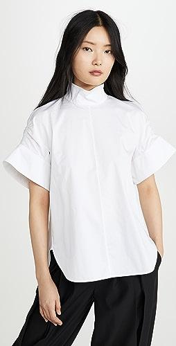 Tibi - Shirred Sleeve Top