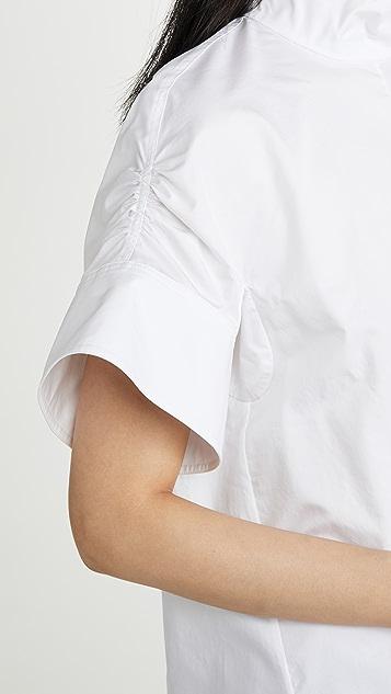 Tibi 抽褶衣袖上衣