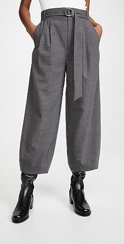 Tibi - 可拆卸腰带立体长裤