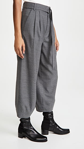 Tibi Sculpted Pant with Removable Belt