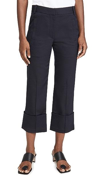 Tibi Cuffed Hem Cropped Pants