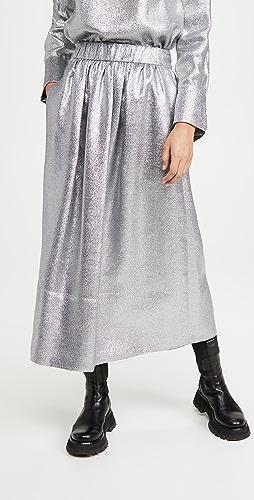 Tibi - Smocking Waistband Full Skirt