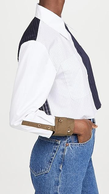 Tibi Cropped Shirt