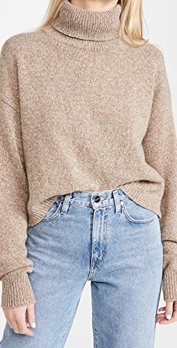 Tibi - Turtle Neck Cropped Cashmere Pullover