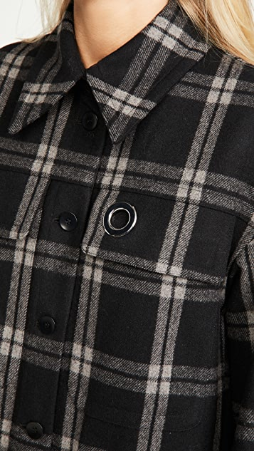 Tibi 宽大版型衬衣式大衣