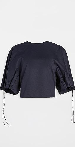 Tibi - Drawchord Sleeve Top