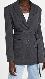 Tibi Luka 西装面料束带西装外套