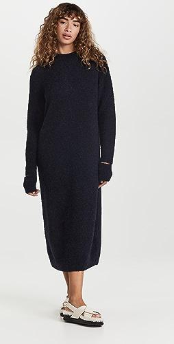 Tibi - Alpaca Sweater Slit Cuff Easy Dress