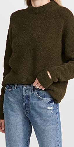 Tibi - 羊驼毛毛衣开衩袖口简约连衣裙