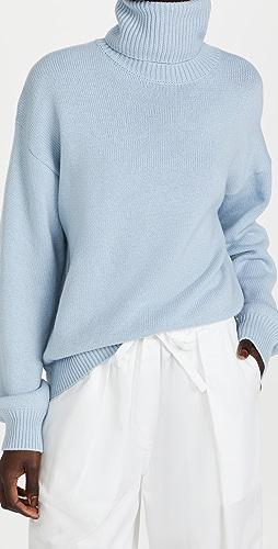 Tibi - Cashmere Sweater Foldable Turtleneck Pullover
