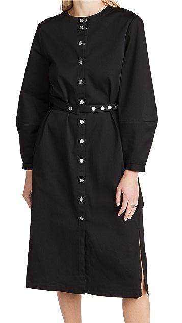 Tibi Organic Cotton Harness Dress