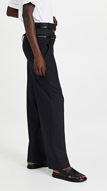 Tibi Norris Suiting Double Waisted Trousers