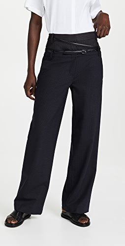 Tibi - Norris 西装面料双层腰部长裤