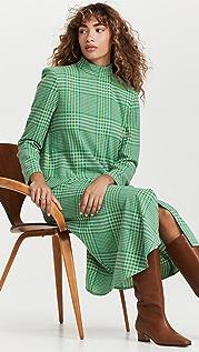Tibi Sterling Plaid Dress