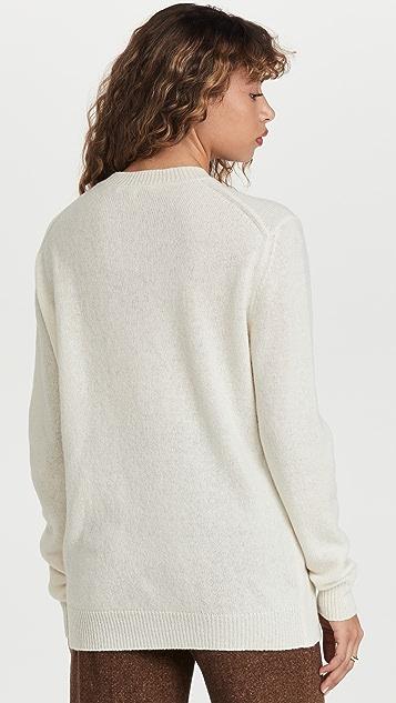Tibi Wool Kangaroo Pullover