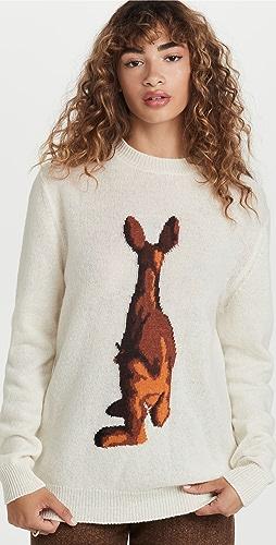 Tibi - Wool Kangaroo Pullover