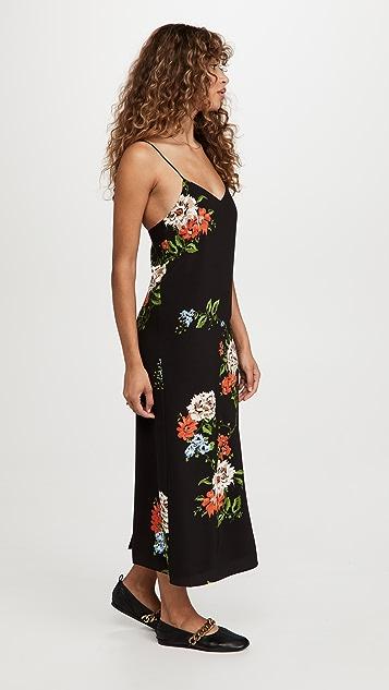 Tibi Quinn Floral Slip Dress
